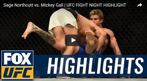 Sage Northcutt vs Mickey Gall Full Fight Video Highlights