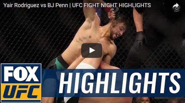 Yair Rodriguez vs BJ Penn Full Fight Video Highlights