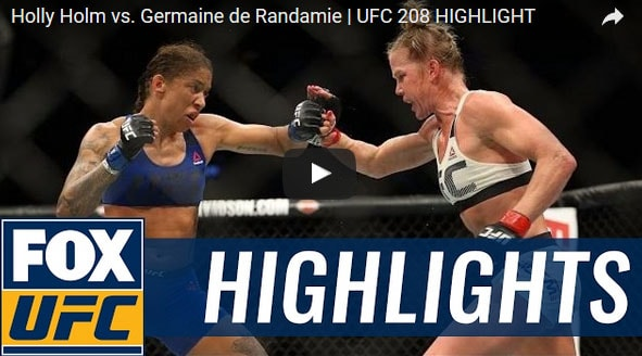 Holly Holm vs Germaine de Randamie Full FIght Video Highlights