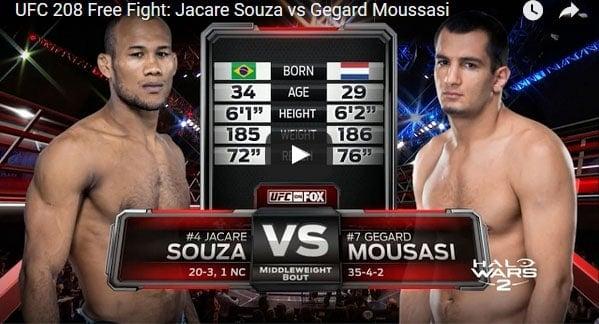 Jacare Souza vs Gegard Moussasi Full Fight Video