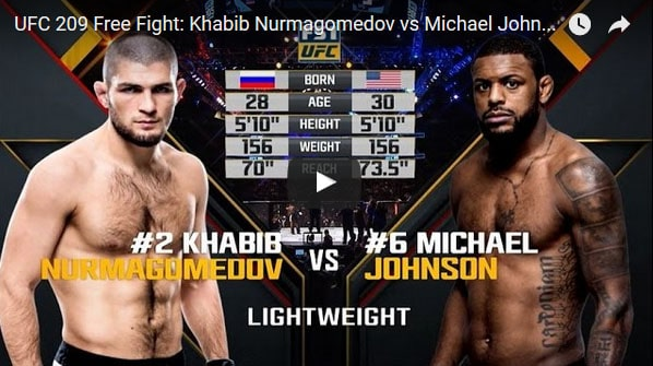 Khabib Nurmagomedov vs Michael Johnson Full Fight Video