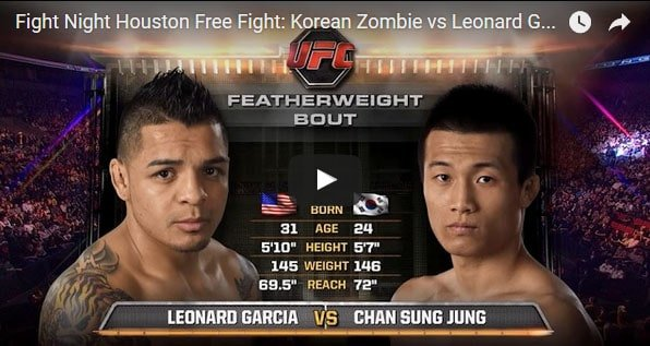 Korean Zombie vs Leonard Garcia Full Fight Video