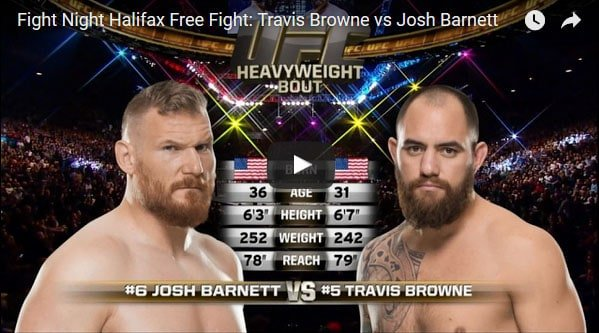 Travis Browne vs Josh Barnett Full Fight Video