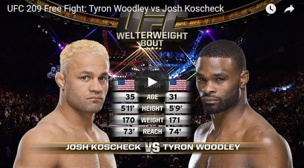 Tyron Woodley vs Josh Koscheck Full Fight Video