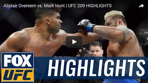 Alistair Overeem vs Mark Hunt Full Fight Video Highlights