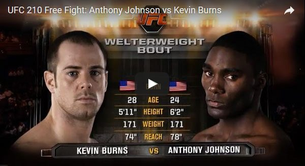 Anthony Johnson vs Kevin Burns Full Fight Video