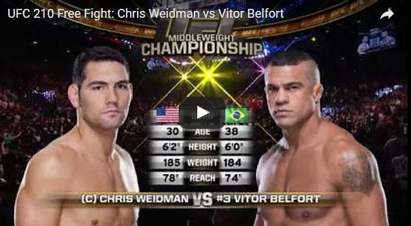 Chris Weidman vs Vitor Belfort Full Fight Video