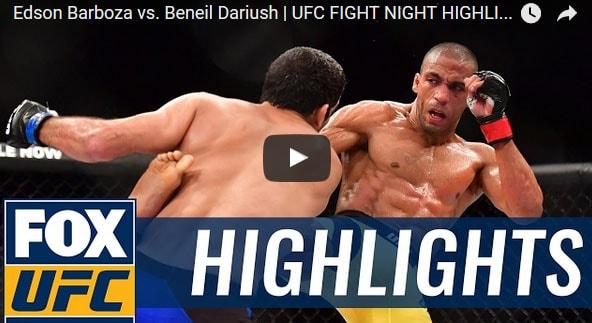 Edson Barboza vs Beneil Dariush Full Fight Video Highlights