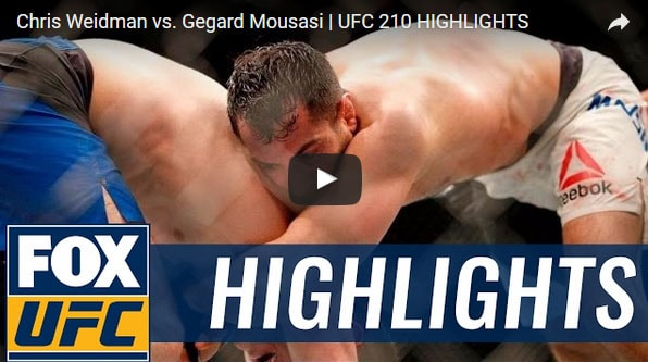 Chris Weidman vs Gegard Mousasi Full Fight Video Highlights