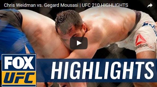 Chris Weidman vs Gegard Mousasi Full Fight Video Highlights