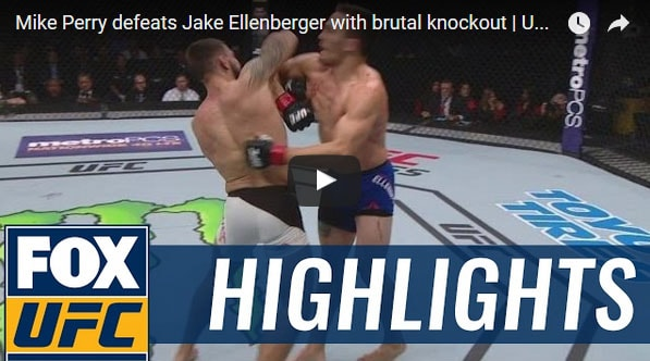 Mike Perry vs Jake Ellenberger Full Fight Video Highlights