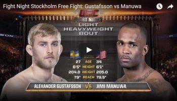 Alexander Gustafsson vs Jimi Manuwa Full Fight Video