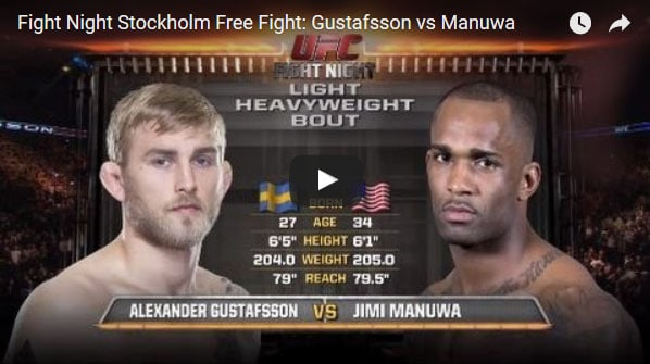 Alexander Gustafsson vs Jimi Manuwa Full Fight Video