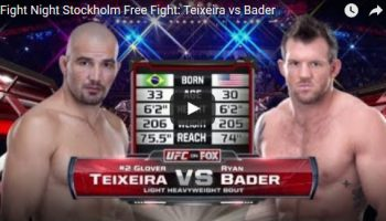 Glover Teixeira vs Ryan Bader Full Fight Video