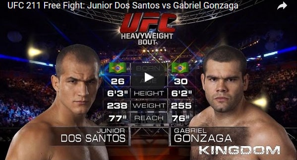 Junior Dos Santos vs Gabriel Gonzaga Full Fight Video