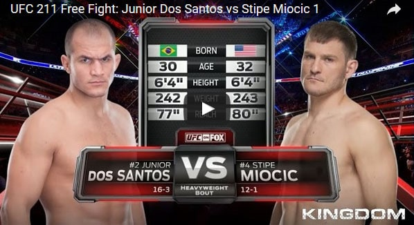 Junior Dos Santos vs Stipe Miocic Full Fight Video