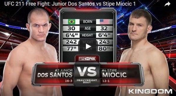 Junior Dos Santos vs Stipe Miocic Full Fight Video