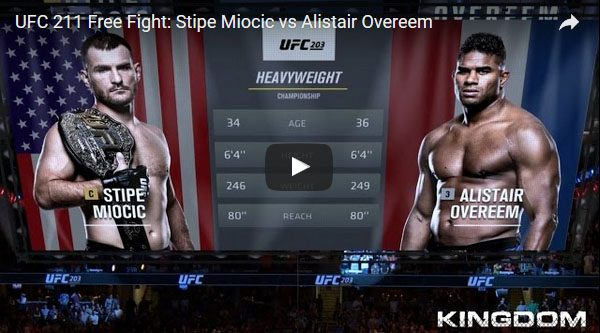 Stipe Miocic vs Alistair Overeem Full Fight Video