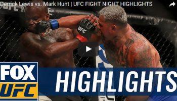 Derrick Lewis vs Mark Hunt Full Fight Video Highlights