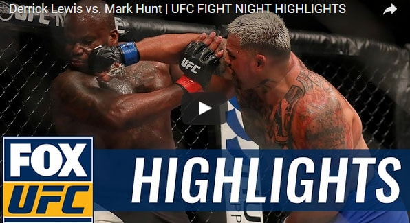 Derrick Lewis vs Mark Hunt Full Fight Video Highlights