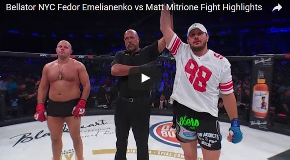 Fedor Emelianenko vs Matt Mitrione Full Fight Video Highlights