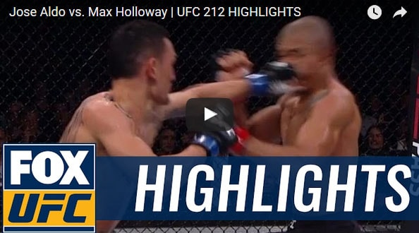 Jose Aldo vs Max Holloway Full Fight Video Highlights