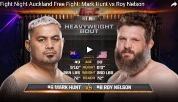 Mark Hunt vs Roy Nelson Full Fight Video