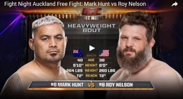 Mark Hunt vs Roy Nelson Full Fight Video