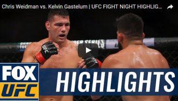 Chris Weidman vs Kelvin Gastelum Full Fight Video Highlights