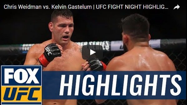Chris Weidman vs Kelvin Gastelum Full Fight Video Highlights