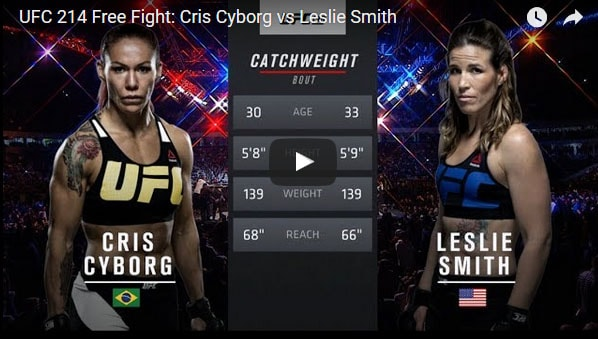 Cris Cyborg vs Leslie Smith Full Fight Video