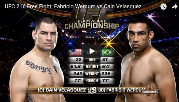Fabricio Werdum vs Cain Velasquez Full Fight Video