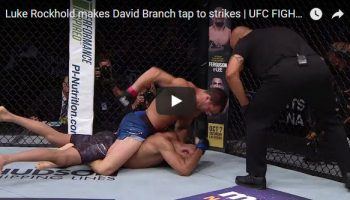 Luke Rockhold vs David Branch Full Fight Video Highlights