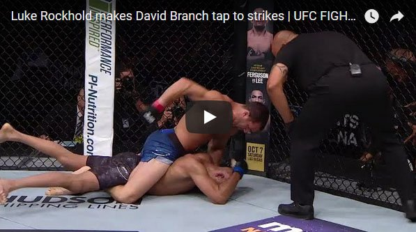 Luke Rockhold vs David Branch Full Fight Video Highlights