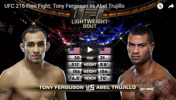 Tony Ferguson vs Abel Trujillo Full Fight Video