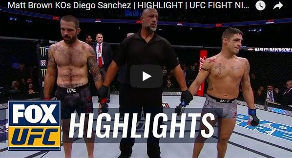 Matt Brown vs Diego Sanchez Full Fight Video Highlights