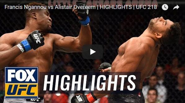 Francis Ngannou vs Alistair Overeem Full Fight Video Highlights
