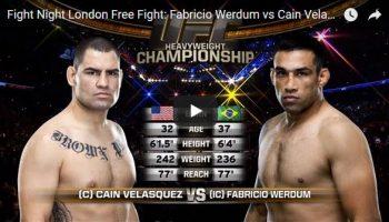 Fabricio Werdum vs Cain Velasquez Full Fight Video
