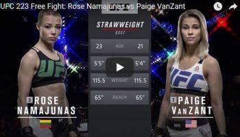 Rose Namajunas vs Paige VanZant Full Fight Video