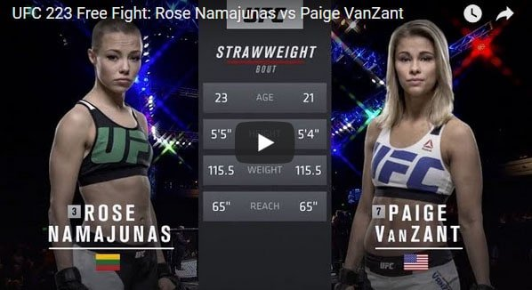Rose Namajunas vs Paige VanZant Full Fight Video