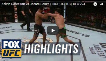 Kelvin Gastelum vs Jacare Souza Full Fight Video Highlights