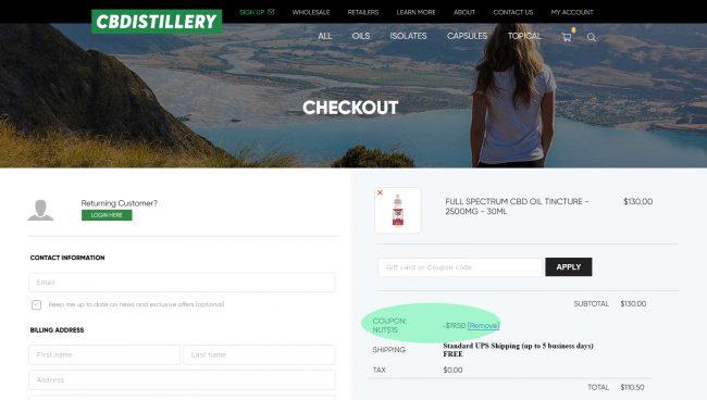 The CBDistillery Promo Code
