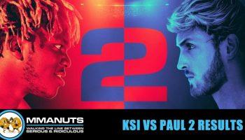 KSI vs Paul 2 results