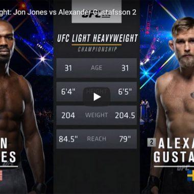 Jon Jones vs Alexander Gustafsson 2