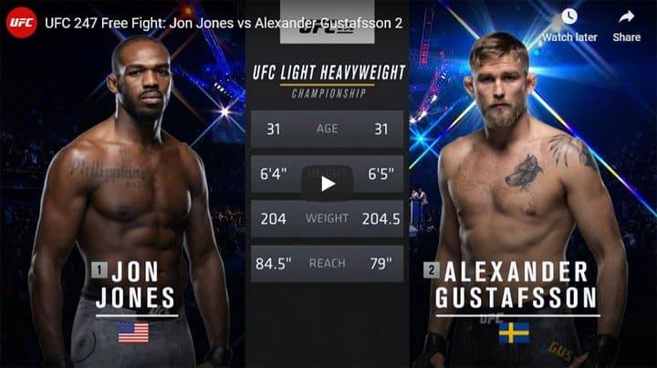 Jon Jones vs Alexander Gustafsson 2 Full Fight Video