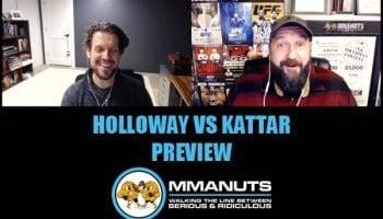 UFC holloway vs kattar preview mma podcast