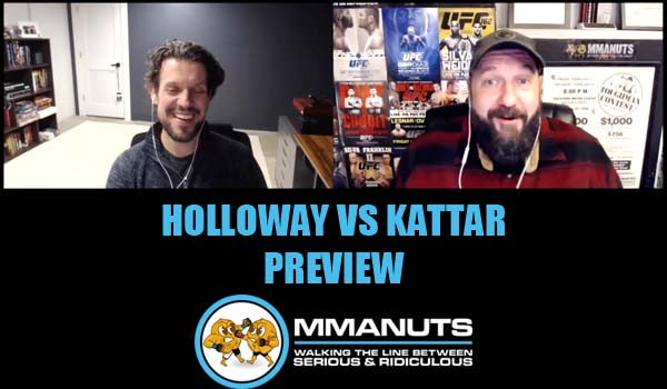 UFC holloway vs kattar preview mma podcast